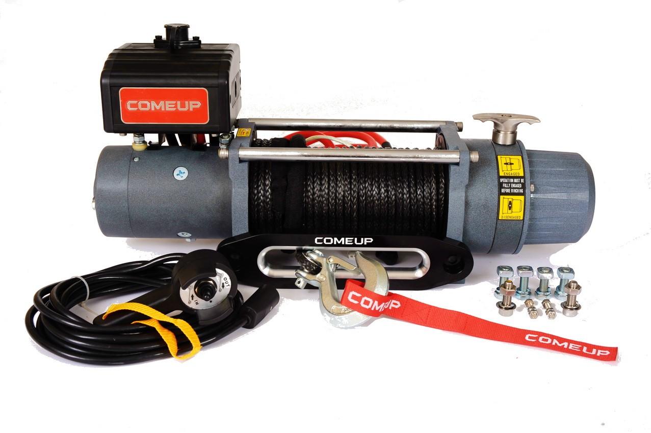 ComeUp DV-9s электрическая лебедка 24V 4.1т (кевларовый трос)