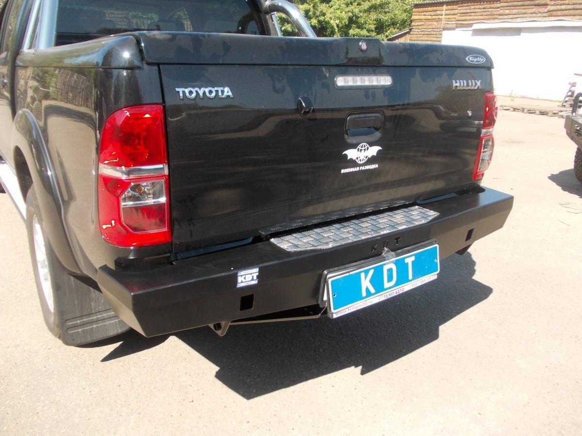 KDT силовой задний бампер Спорт на Toyota Hilux