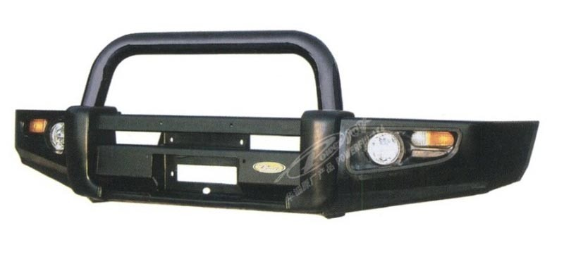 Powerful передний силовой бампер на Nissan Patrol (Safari) Y61 (1997-2013)