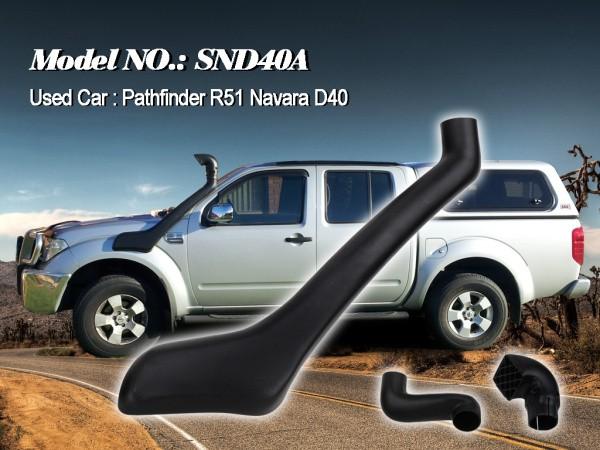Шноркель SND40A для Nissan Pathfinder/Navara R51 (дизель YD25DDTi 2.5л-I4)