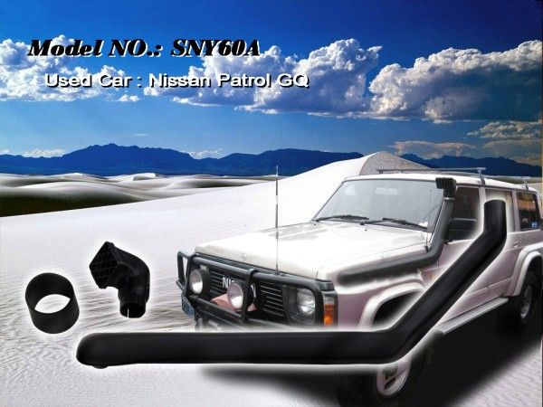 Шноркель SNY60A для Nissan Patrol/Safari Y60 (бензин TB42 4.2л-I6бензин/TB42E 4.2л-I6/бензин RB30 3.0л/дизель TD42 Vertical Pre-clearer 4.2л-I6)
