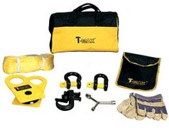 T-Max набор аксессуаров (блок, шаклы, стропа, крюк, перчатки)
