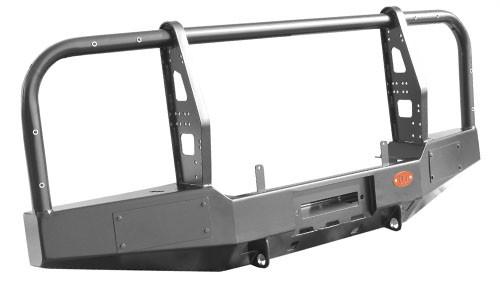 Ojeep 02.204.11 передний силовой бампер с площадкой лебёдки на УАЗ Hunter