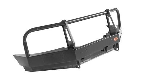Ojeep 02.001.11 передний силовой бампер с площадкой лебёдки на УАЗ Patriot