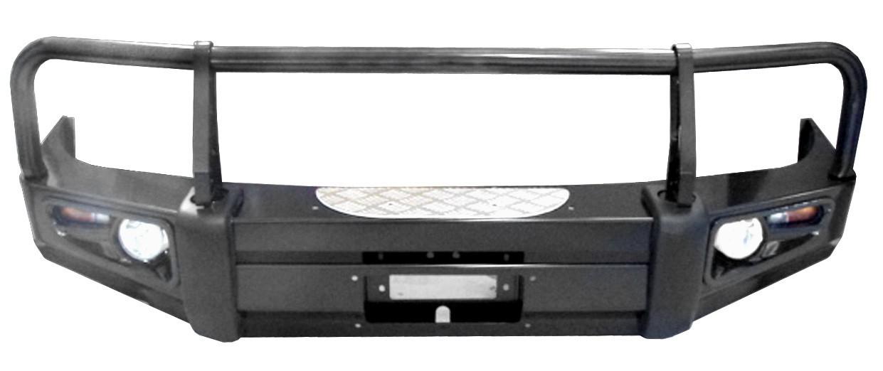 Powerful передний силовой бампер c защитой фар на Isuzu D-Max (2003-2005)