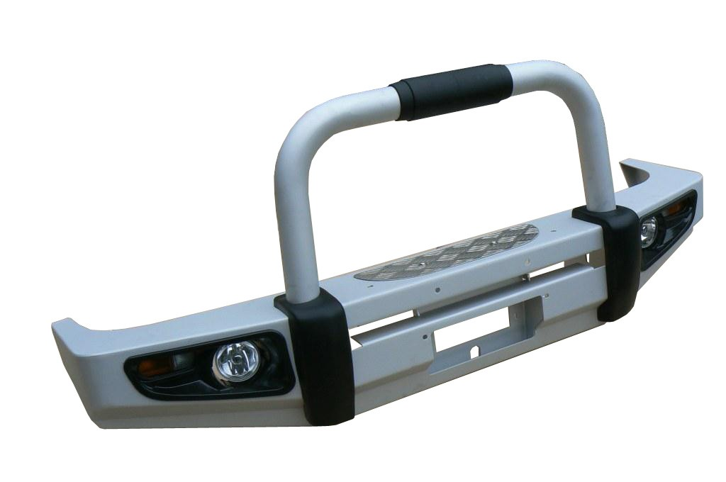 Powerful силовой бампер на Toyota Land Cruiser Prado 120 передний алюминиевый
