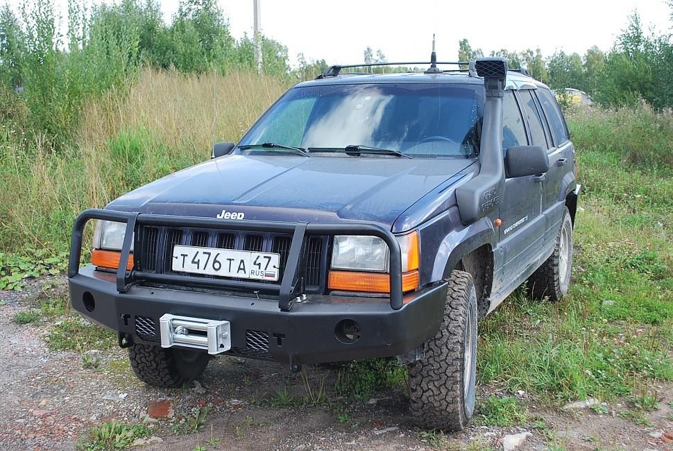 Тамерлан силовой бампер на Jeep Grand Cherokee передний