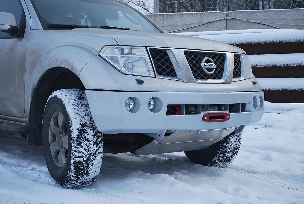 Тамерлан силовой бампер на Nissan Navara, Pathfinder передний