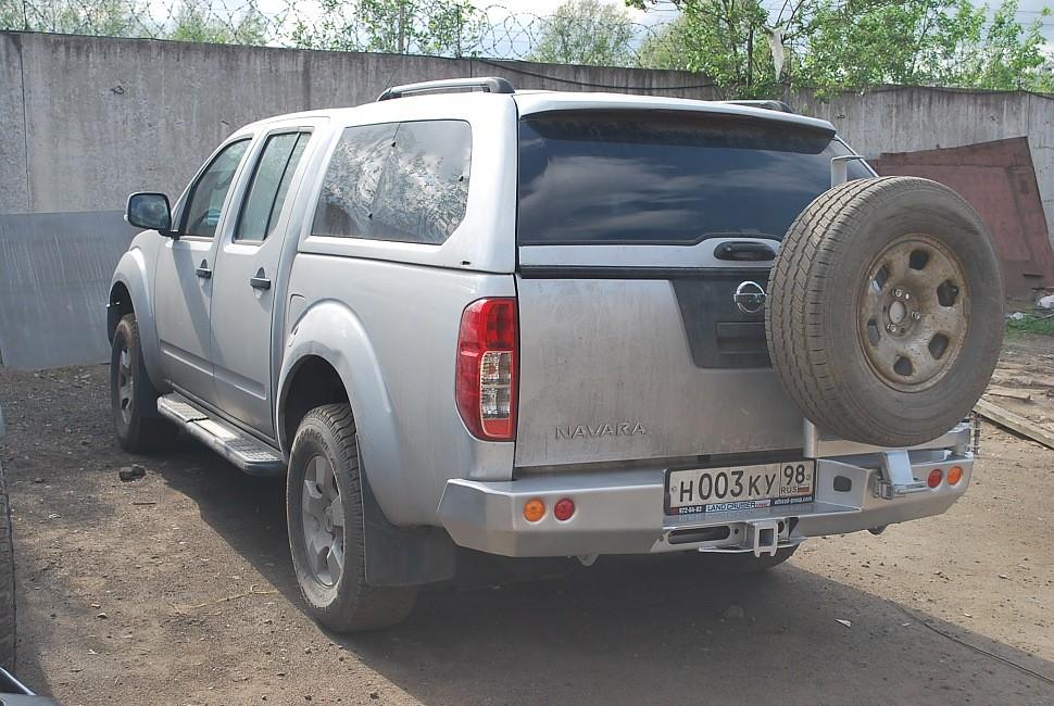 Тамерлан силовой бампер на Nissan Navara задний