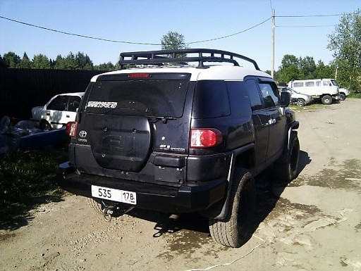Тамерлан силовой бампер на Toyota FJ Cruiser задний