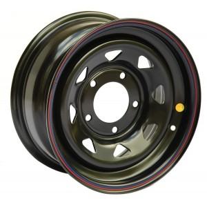 Диск усиленный Mersedes стальной черный 5х130 8xR16 ET0 (треуг. мелкий)