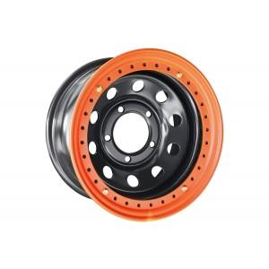 Диск усиленный Toyota Land Cruiser 100 стальной черный 5x150 8xR16 d113 ET-3 с бедлоком (оранжевый)