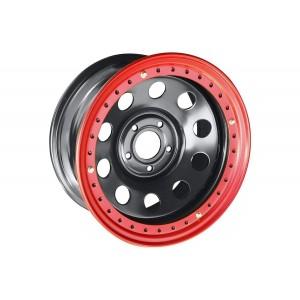 Диск усиленный Jeep стальной черный 5х127 8xR17 d75 ET-0 с бедлоком (красный)