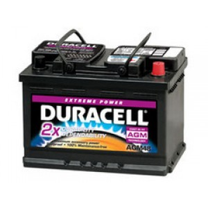 Duracell AGM48 аккумулятор гелевый, полярность обратная, 74 А·ч
