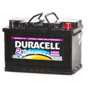 Duracell AGM27DC (CCA 580 )аккумулятор гелевый, полярность прямая, 105 А·ч