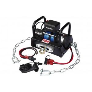 РИФ EWX5000SR-KIT лебёдка переносная 5000SR c площадкой на цепях и проводами (в сборе)