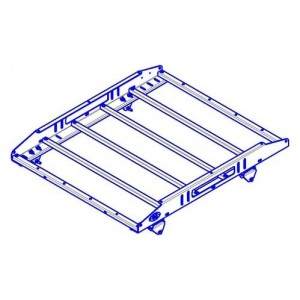 OJeep 01.197.70 багажник алюминиевый крашеный разборный 4-х опорный (стальные), 1,2х1,0м, 10кг, Mitsubishi L200 V