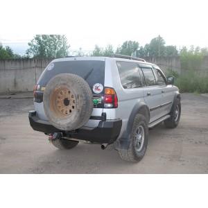 Тамерлан силовой бампер на Mitsubishi Montero, Pajero Sport задний