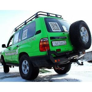 Тамерлан силовой бампер на Toyota Land Cruiser 100 задний