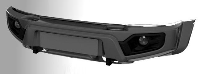 ABC-Дизайн ABC.UAZ.FB.31 композитный передний облегченный бампер на УАЗ Патриот/Пикап/Карго 2005- лифт, с оптикой