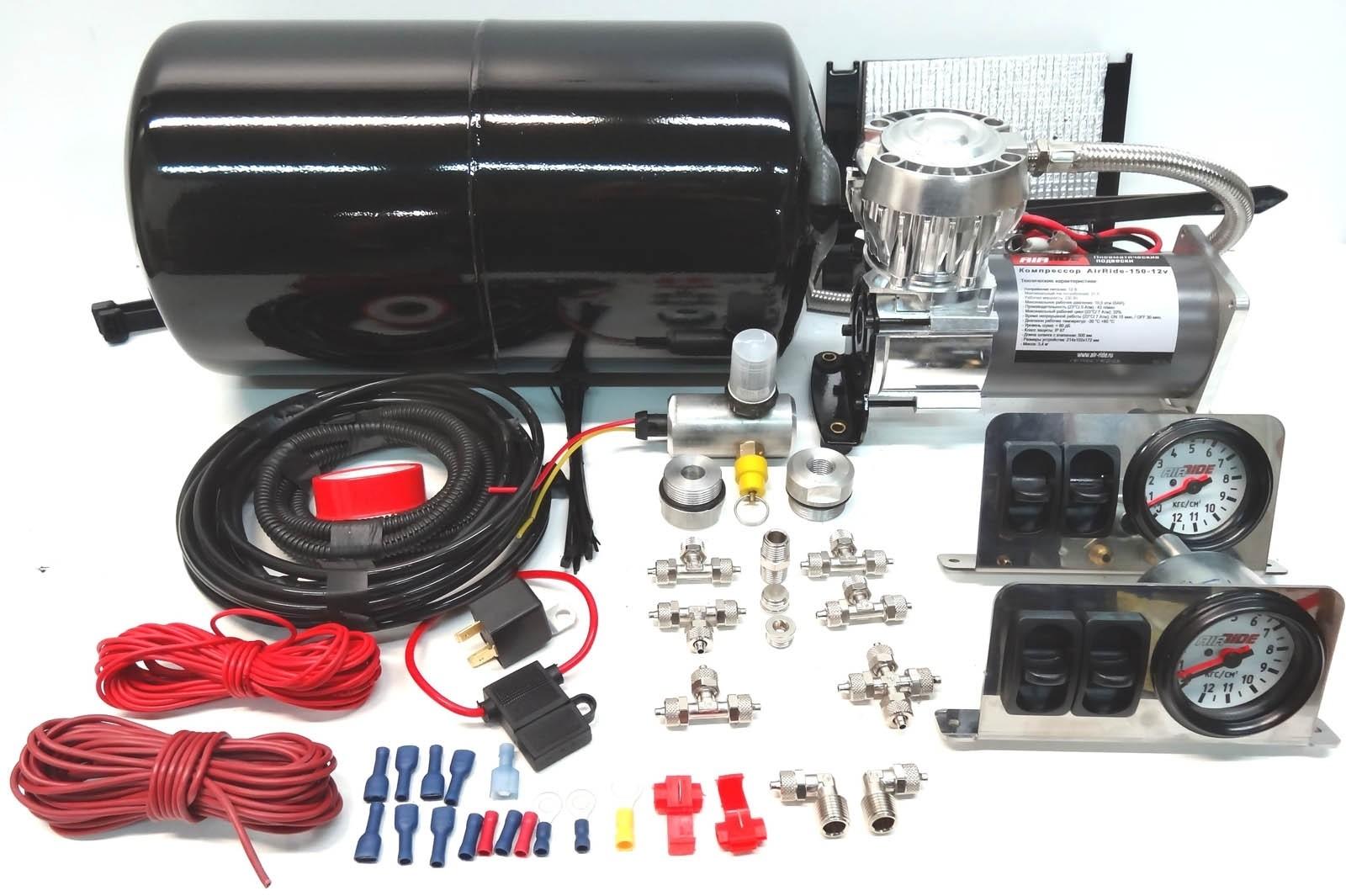 Air-Ride 204001 четырехконтурная система управления пневмоподвеской с ресивером 415PS