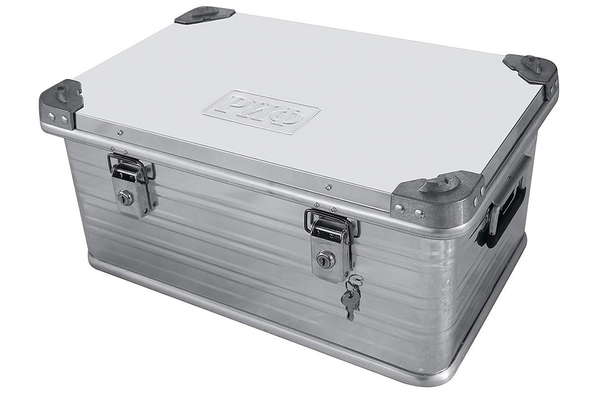 РИФ E582385277 ящик алюминиевый усиленный с замком 582х385х277 мм (ДхШхВ)