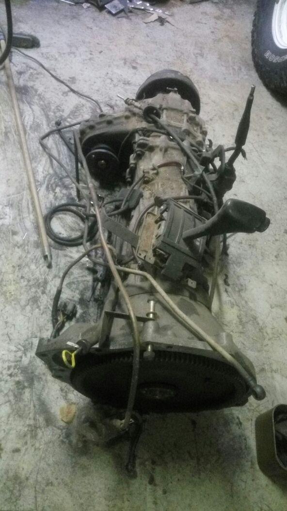 АКПП + РК TD42 Nissan Patrol / Safari Y60 RE4R03A с селектором и маховиком в сборе б/у