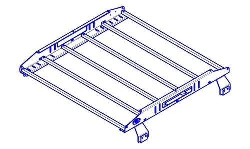 OJeep 01.197.60 багажник алюминиевый крашеный разборный 4-х опорный 1,2х1,4м, УАЗ Хантер