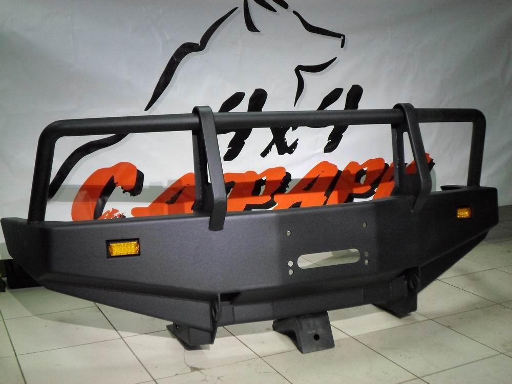 Сафари 4х4 силовой передний бампер на Toyota Surf / 4Runner 185 под лебедку