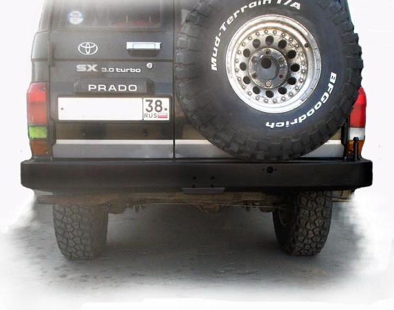 Силовой бампер на Toyota Land Cruiser 78 задний