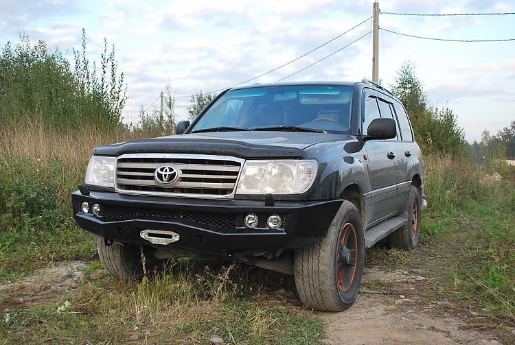 Тамерлан силовой бампер на Toyota Land Cruiser 100 передний
