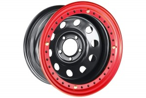 Диск усиленный Jeep стальной черный 5х114,3 8xR15 d84 ET-19 с бедлоком (красный)