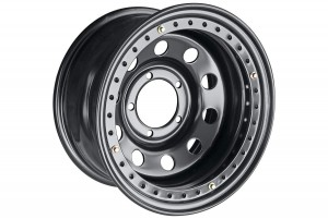 Диск усиленный УАЗ стальной черный 5x139,7 8xR16 d110 ET-24 с бедлоком (черный)