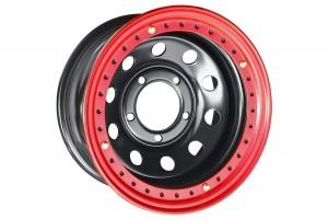 Диск усиленный Toyota Land Cruiser 100 стальной черный 5x150 8xR16 d113 ET-14 с бедлоком (красный)