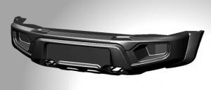 ABC-Дизайн ABC.UAZ.FB.17 композитный передний легкий бампер на УАЗ Патриот/Пикап/Карго 2005- лифт, без оптики