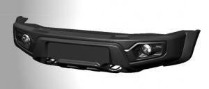 ABC-Дизайн ABC.UAZ.FB.18 композитный передний легкий бампер на УАЗ Патриот/Пикап/Карго 2005- лифт, с оптикой