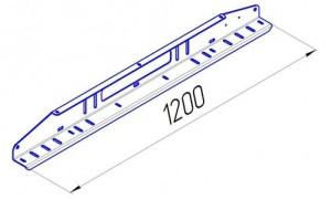 OJeep 01.197.01 комплект из двух алюминиевых крашеных боковин под 2 опоры, 6 поперечин, длина 1200 мм