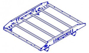 OJeep 01.197.80 багажник алюминиевый крашеный 4-х опорный, 1,2х1,0м, места крепления доп.фар и номерного знака, крепление на дуги Duster