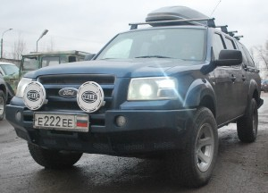 Тамерлан силовой бампер на Ford Ranger передний