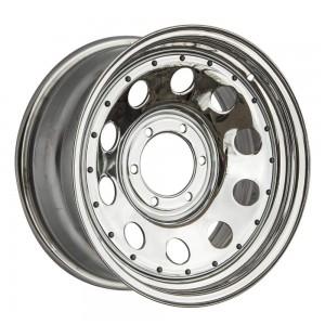 Диск усиленный Toyota / Nissan стальной хромированный 6x139,7 8xR17 d110 ET-0