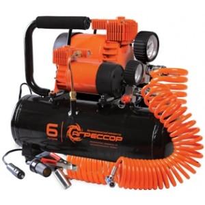 Агрессор компрессор с ресивером на 6 л, 35 л/мин
