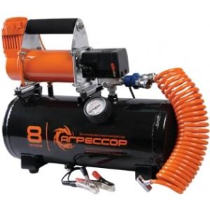 Агрессор компрессор с ресивером на 8 л, 72 л/мин
