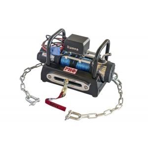 РИФ EWX6000SR-KIT лебёдка переносная 6000SR c площадкой на цепях и проводами (в сборе) синтетический трос