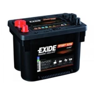 Exide EM1000 аккумулятор гелевый, полярность прямая, 50 А·ч
