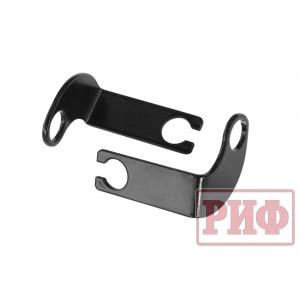 RIF000-99021 кронштейны для переноса крепления тормозных шлангов УАЗ Патриот лифт 50 мм (мех. РК)