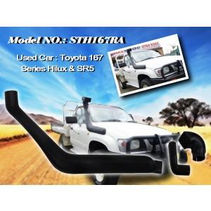 Шноркель STH167RA для Toyota Surf Hilux 167 правый (бензин 5VZ-FE 3.4л-V6/бензин 3VZ-E 3.0л-V6/бензин 3RZ-FE 2.7л-I4/дизель 3L 2.8л-I4)