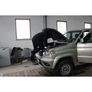 Съемная подножка на бампер УАЗ Патриот