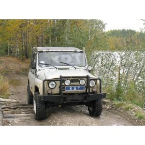 KDT силовой передний бампер Light на УАЗ Hunter