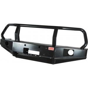 Бампер РИФ передний УАЗ Патриот с отверстиями под штатные ПТФ и кенгурином