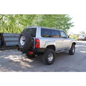 Силовой бампер на Nissan Patrol (Safari) Y61 (от 2006 г.в.) задний с калиткой
